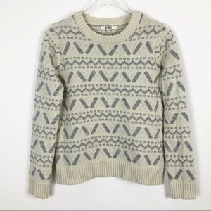 BB Dakota Fair Isle Crew Neck Sweater Medium